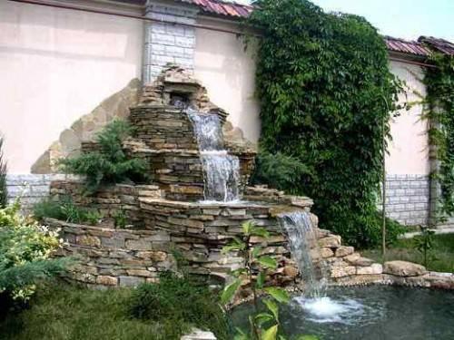 Как сделать водопад на даче своими руками