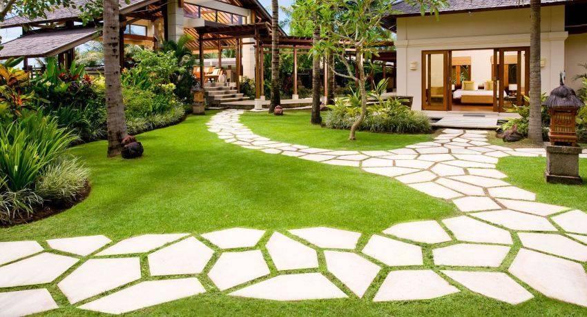 Как сделать садовые дорожки на даче своими руками с малыми затратами: выбор материала, технологии укладки дорожек на приусадебном участке