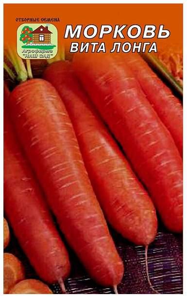 Высокоурожайный сорт моркови вита лонга