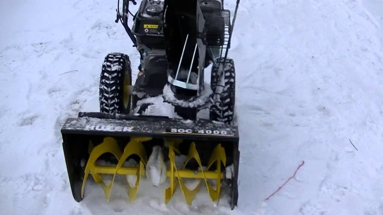 Обзор снегоуборщика huter sgc 4000. описание, характеристики, инструкции, отзывы владельцев