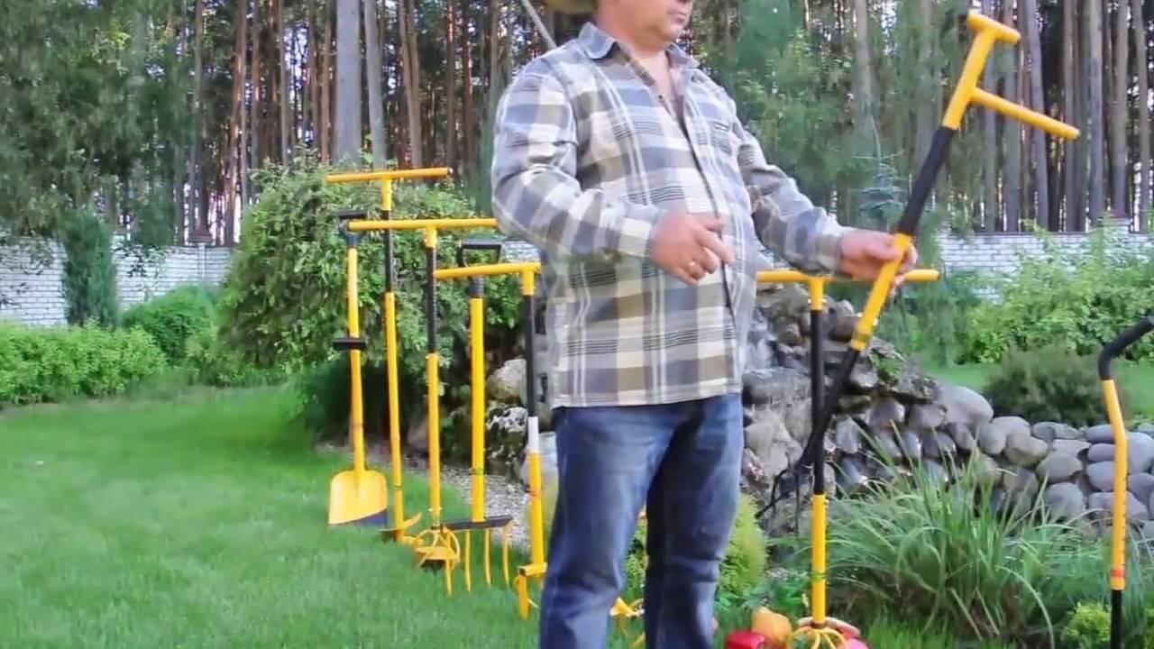 Приспособление для удаления сорняков с корнями в саду на даче