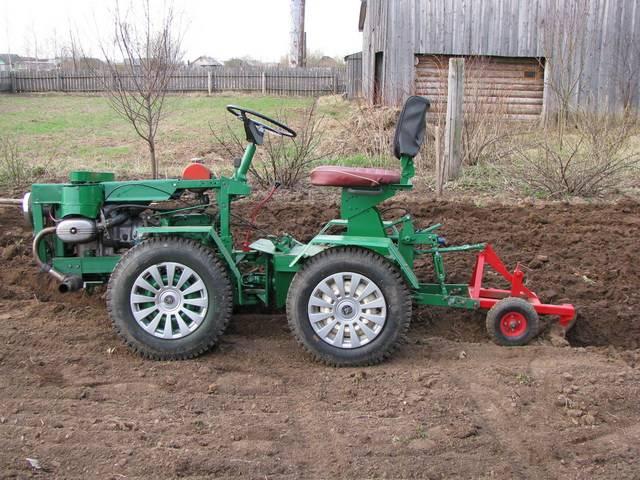 Самодельный мини-трактор (54 фото): как сделать его своими руками  из грузового мотороллера и из оки по чертежам? как собрать из луаза?