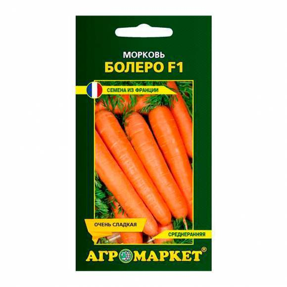 Морковь, сорт болеро f1.