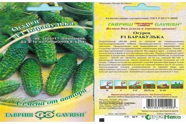 Огурец барабулька: описание сорта, выращивание, уход, фото