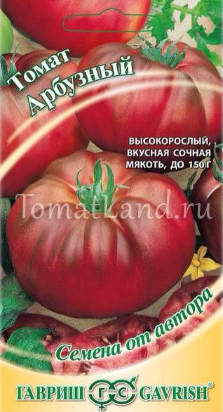 """Томат """"арбузный"""": характеристика, описание и фото сорта"""