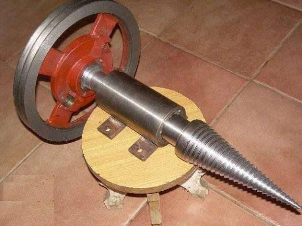 Самодельный дровокол с электромотором от стиральной машины