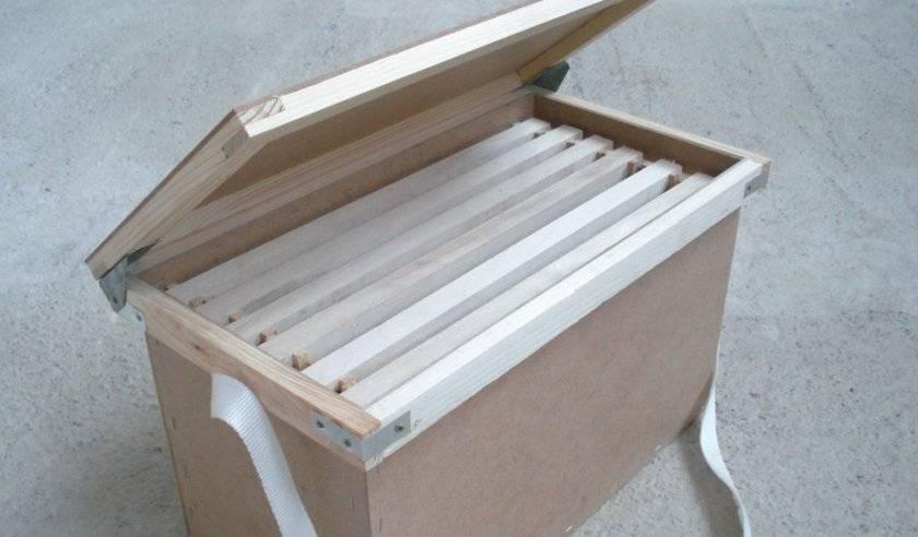 Самодельный ящик для переноски заполненных медом рамок