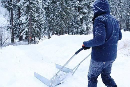 Изготовление скребка для уборки снега своими руками