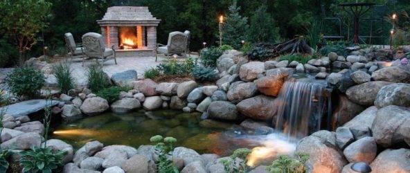 Как самостоятельно соорудить искусственный пруд с водопадом?
