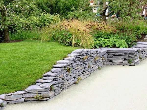Подпорные стенки в ландшафтном дизайне