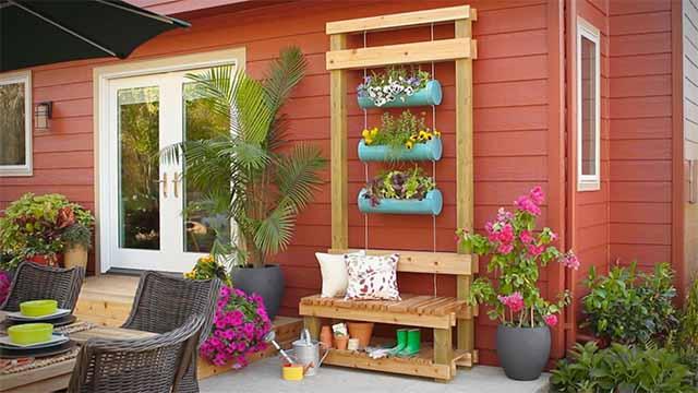 Вертикальное озеленение сада - креативный вертикальный сад