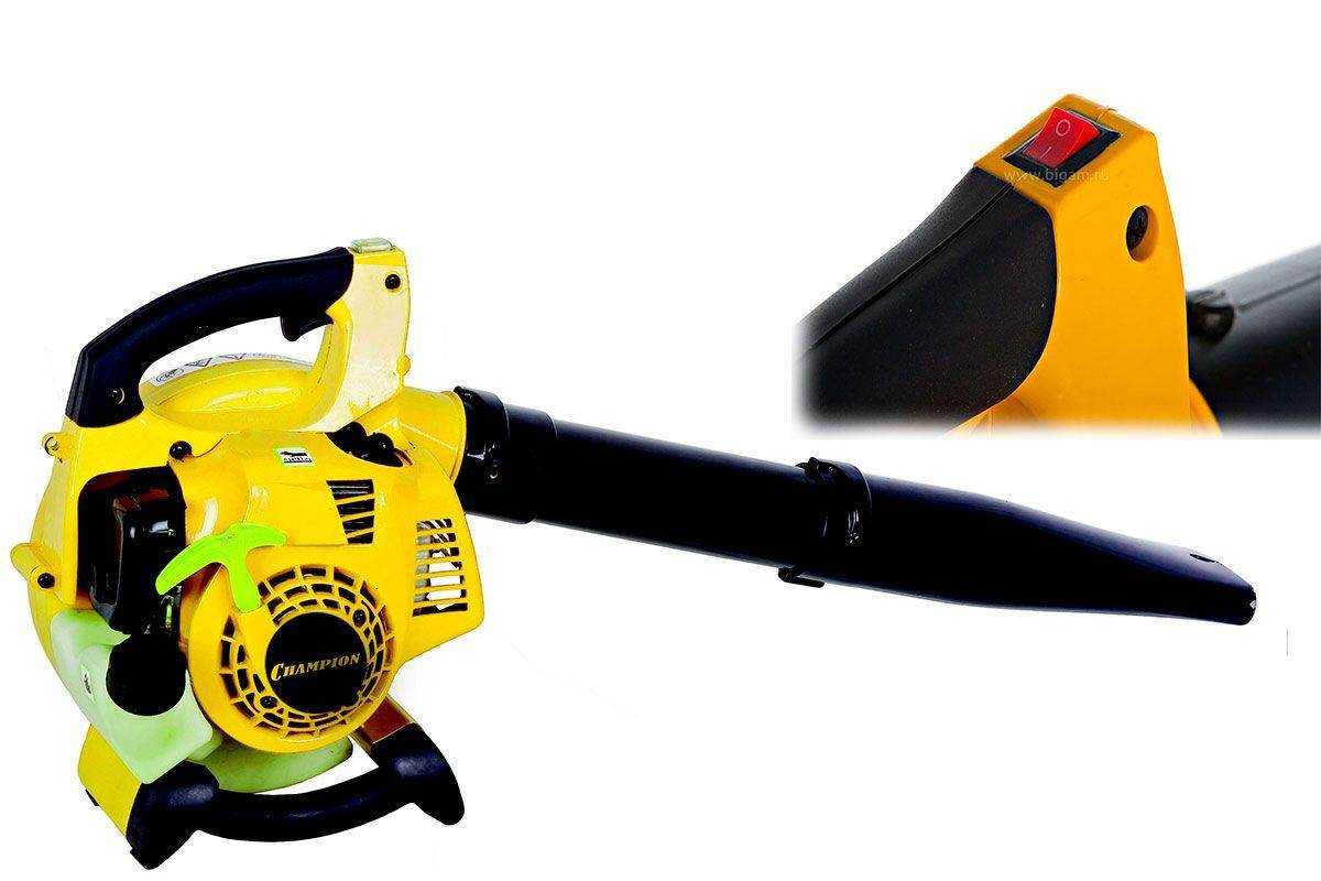 Бензиновый садовый пылесос-воздуходувка