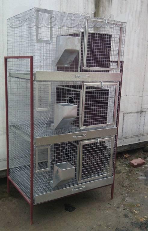 Клетки для кроликов: чертежи с размерами и описанием