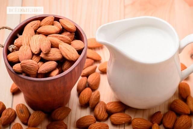 Рецепт молоко из миндаля. калорийность, химический состав и пищевая ценность.