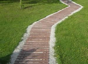 Садовые дорожки из покрышек своими руками + фото