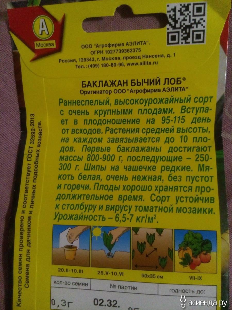Лучшие сорта баклажанов для открытого грунта на 2018-2019 год. отзывы огородников