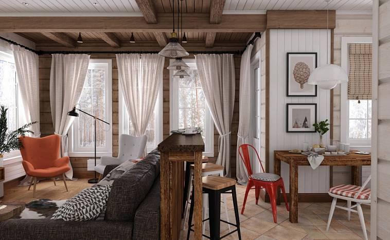 Интерьер дачного дома (88 фото): интересные идеи эконом класса для дачи, оформление дизайна внутри комнаты