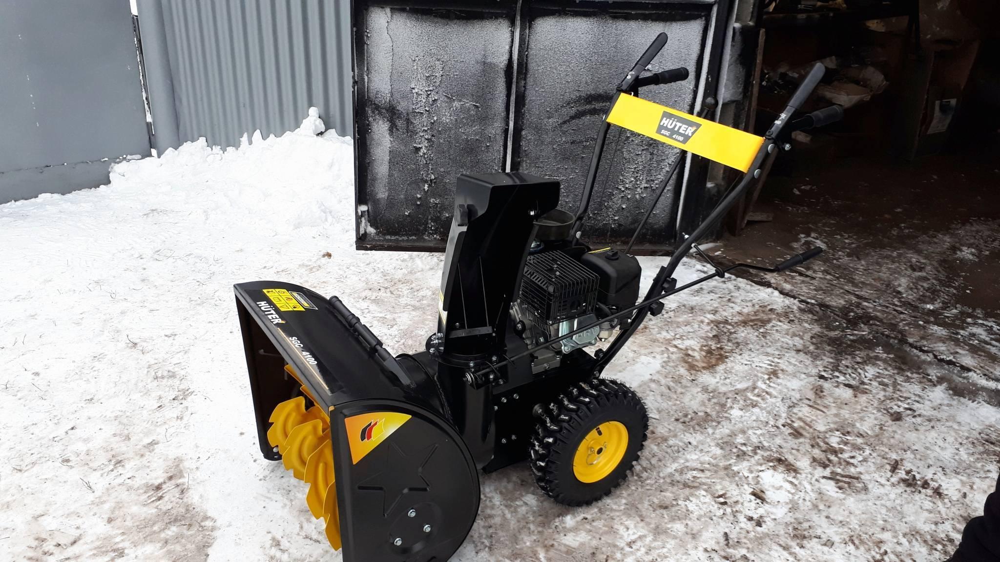 Снегоуборщик huter sgc 4000: отзывы и обзор