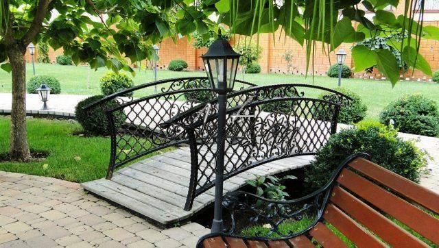 Садовые мосты как элемент ландшафтного дизайна участка