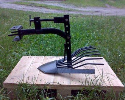 Картофелекопалка для мотоблока своими руками: размеры самодельной грохотной копалки для картофеля. как сделать транспортерную картофелекопалку по чертежу?
