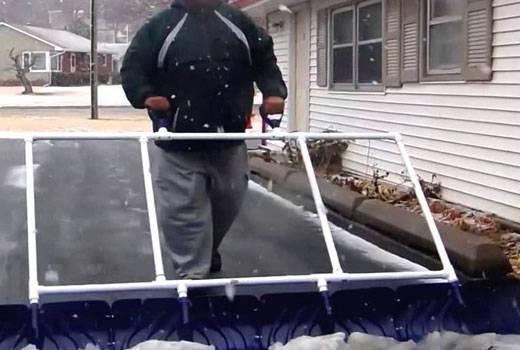 Лопата для снега своими руками. как сделать лопату для уборки снега