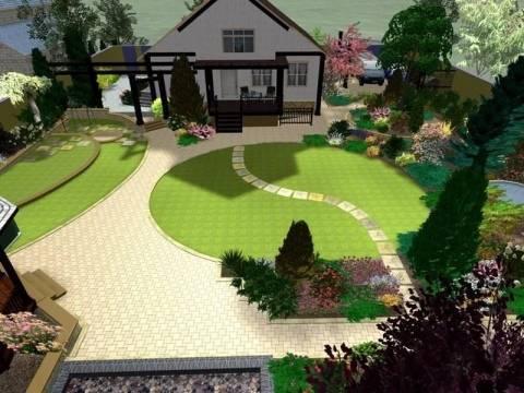 Ландшафтный дизайн дачного участка в 6 соток: примеры с фото