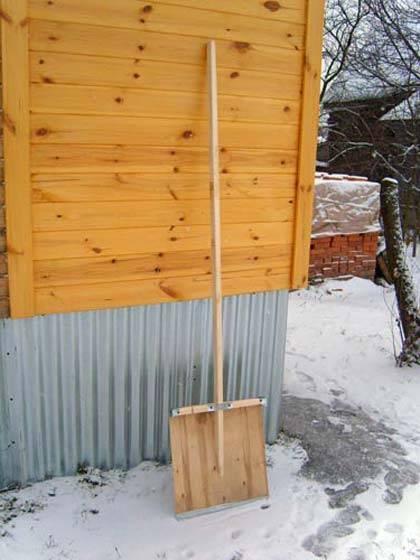 Как сделать лопату на мотоблок для уборки снега: своими руками