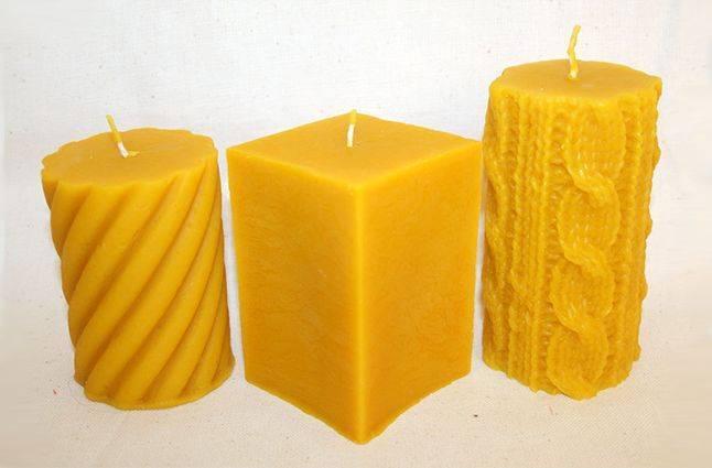 Изготовление свечей из натурального воска
